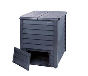 Komposter Thermo-Wood + Bodengitter 600 Liter braun GARANTIA 626051