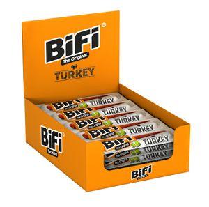 BiFi Original Turkey 24 x 20g Truthahn Salami Geräucherte Fleischsnack
