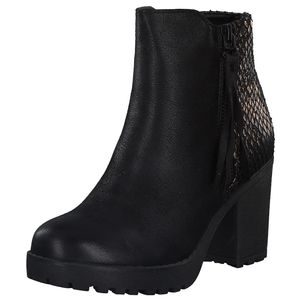 H.I.S Damen Stiefelette Schwarz Schuhe, Größe:38