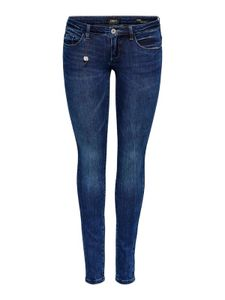 Only Damen Jeanshose onlCoral Slim Jeans Hüftjeans blau, Weite/Länge:28/30