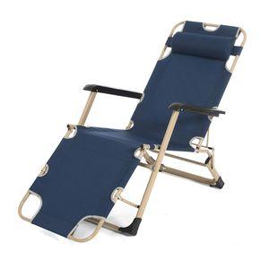 Boomersun Faltbare Campingliege Freizeitliege Liegestuhl Klappbar Klappliege Relaxstuhl Gartenstuhl Campingstuhl Sonnenliege Navy Blau