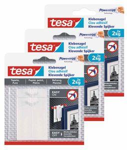 tesa Klebenagel Tapete & Putz 2 kg 3 Packungen