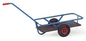 Fetra Handwagen mit Boden, 200 kg, Ladefläche: 800 x 525 mm, Vollgummireifen