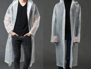 Favson  Klarer EVA-Regenmantel für Damen, wasserdichter leichter Regenmantel mit Kapuze, Reisefischen, Wandern im täglichen Gebrauch, groß