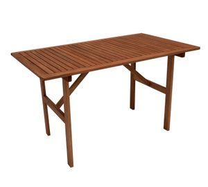DEGAMO Holztisch Gartentisch Esstisch Gartenmöbel Tisch BRASILIA 70x120cm, Eukalyptus geölt