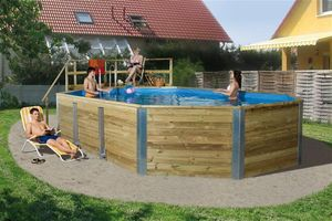 Massivholz Schwimmbad Weka 594 A 850x376cm