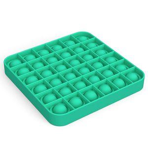 Push Pop Pop Bubble Sensorische Zappeln Stressabbau Xmas Geschenk Spielzeug Lernspielzeug Farbe : Square-Grün
