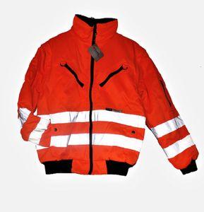EXCEL WORKWEAR Warnschutz Wendejacke Gr. M Pilotenjacke Winterjacke Schutz-Jacke