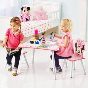 Disney Tisch mit zwei Stühlen Minnie Maus 63 x 63 x 45 cm Rosa WORL222013