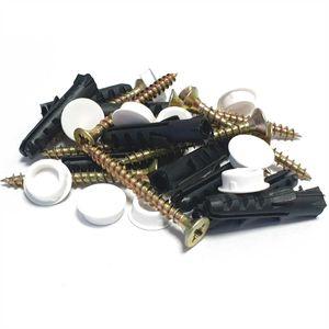 30 tlg. Befestigungsset, Schrauben, Dübel, Abdeckpakken zum Befestigen von Gardinenschienen, zur einfachen Montage Ihrer Innenlaufschiene