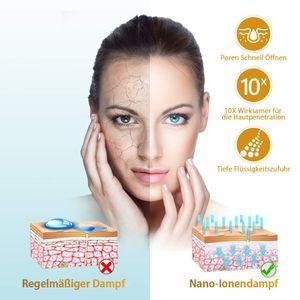 Gesichtsdampfer Gesichtssauna - Nano Ionic Gesichtsdampfer Warmer Nebel Gesichtsdampfer Gesicht Heim-Sauna