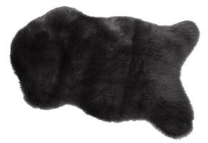 Fellteppich in der Größe 60x90cm, Farbe schwarz