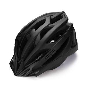 Unisex – Erwachsene Fahrradhelm mit integrierter LED, Größe: 54-61 cm, Schwarz