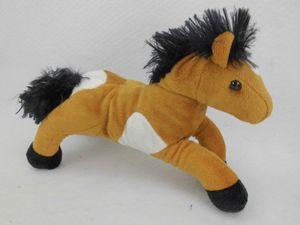 Pferd Pferdchen braun weiß Plüschpferd Kuscheltier Teddy Plüschfigur 30cm
