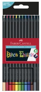 FABER-CASTELL Dreikant-Buntstifte Black Edition 12er Etui