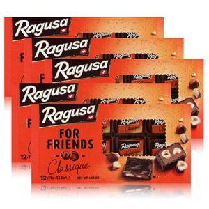 Ragusa for Friends Classique - Schokolade mit Praliné-Füllung 132g (5er Pack)