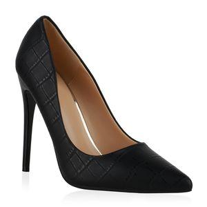 Giralin Damen Pumps High Heels Stiletto Prints Schuhe 836323, Farbe: Schwarz, Größe: 39