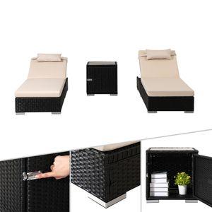 AREBOS Sonnenliegen-Set aus Poly-Rattan - direkt vom Hersteller