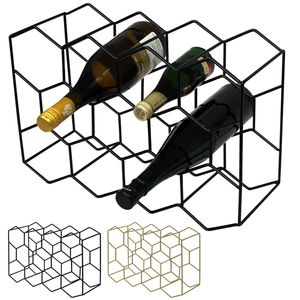Flaschenregal für 11 Flaschen 43,5x15xH29cm in 2 Farben, Farbe:Schwarz