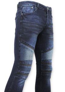 Biker Jeans - Röhrenjeans - Blau - 29