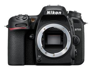 Nikon D7500, 20,9 MP, 5568 x 3712 Pixel, CMOS, 4K Ultra HD, Touchscreen, Schwarz