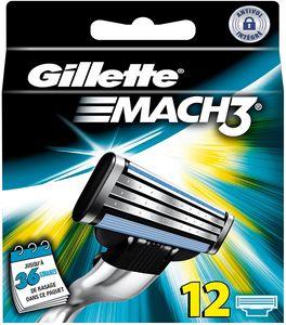 Gillette MACH3 Rasierklingen Packung mit 12 Nachfüllungen