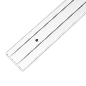 Vorhangschiene, Gardinenschiene 2 Lauf in 120 cm, Innenlaufschienen für Schiebevorhang oder Kräuselband Gardinen, Innenlauf