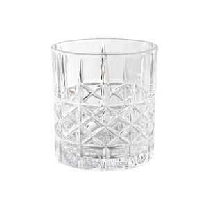 Whisky/Whiskey Gläser mit Kreuzmuster Tumbler 300ml  Kristallglas, 6-teiliges Set