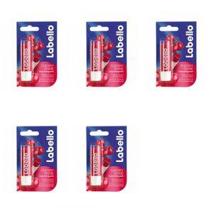 5 x Labello Lippenpflege Cherry Shine 4,8 g