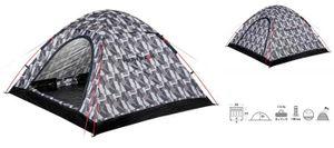High Peak kuppelzelt Monodome 240 x 210 x 130 cm schwarz/weiß