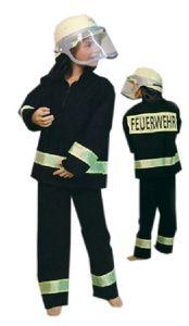 Karneval Kinder Kostüm Feuerwehr Feuerwehrmann Größe 104