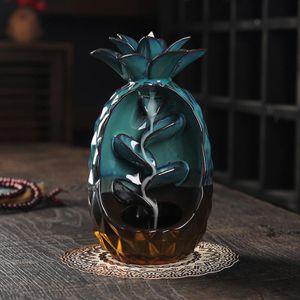 Keramik wasserfall weihrauch brenner stöcke weihrauch handwerk ananas Nachbildung für haus aroma therapie