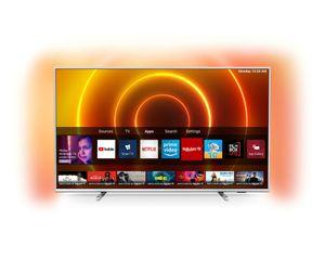 Philips 55PUS7855 139 cm (55 Zoll) 4K Ultra HD LCD-Fernseher, DVB-T/-T2/-C/-S2 Empfänger, HbbTV, WLAN, Smartphone-Steuerung, eingebauter Sprachassistent, CI+, DR) G, 94 kWh/1000h (SDR)