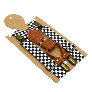X-Typ Hosenträger mit sehr Starken 4 Metall Clip für Kinder, Breite 2.5 cm 2