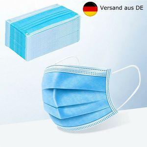 10x Atemschutz-Masken Mundschutz-Masken Einwegmaske OP-Maske Mund-Nasen-Maske 3-lagig Gummiband