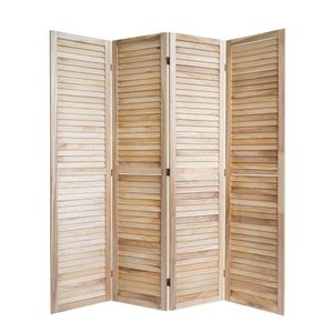 Homestyle4u 1248, Paravent Raumteiler 4 teilig, Holz, Natur Vintage, Höhe 170