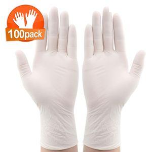 100 Einweghandschuhe Nitril, Größe XL, weiß, puderfrei latexfrei