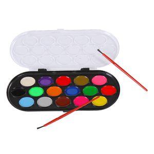 12Pcs Aquarellfarben Set Wassermalfarben Aquarellkasten mit Stift Wasserfarben
