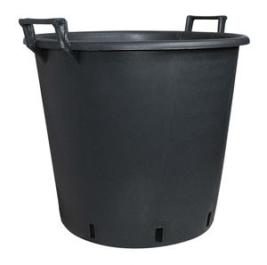 Pflanzcontainer aus Kunststoff mit Griff Schwarz Containertopf, Durchmesser:45 cm