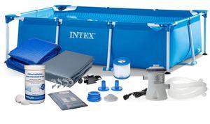 PolBaby INTEX 260x160 cm 6-in-1-Gartenbecken 28271 mit Filterpumpen