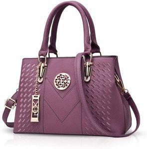 Damenhandtaschen Handtaschen Topgriffe Schultertasche Umhängetaschen Klassische Handtaschen von Frauen Lila