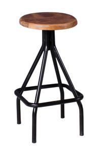 SIT Möbel Barhocker, Gestell aus Metall, Sitzfläche aus Mango B35 x T35 x H75 cm 01054-36 Serie THIS & THAT