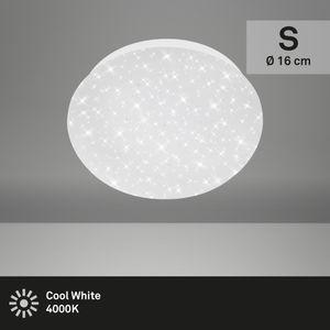LED Deckenleuchte Deckenlampe Sternendekor 4,5 W Weiß Ø 16cm Briloner Leuchten