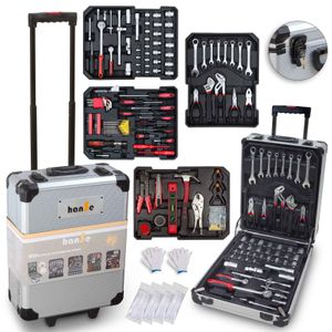 hanSe® Werkzeugkoffer Maxi 1050 Teile Werkzeug Trolley gefüllt Werkzeugkasten Werkzeugkiste