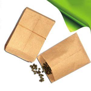 100 stk Geschenktüten PapiertütenTüten Papier Kraftpapier Bodenbeutel 6*10c Y6Q1