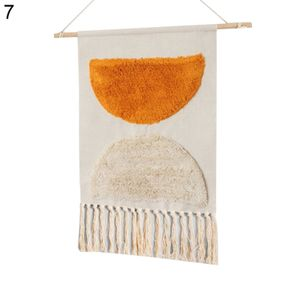 Boho Baumwolle Leinen Quaste Wandteppich h?ngen Anh?nger Bild Home Hotel Wanddekoration 7 #