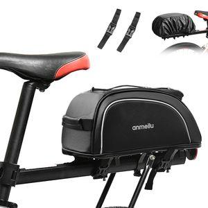 Fahrradkoffer 7L Fahrradtasche Wasserfeste Fahrradtasche mit wasserdichter Regenhuelle