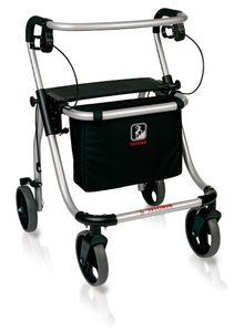 FabaCare Rollator Polo plus T, Leichtgewichtrollator  Germany, Gehwagen, höhenverstellbar, faltbar, bis 120 kg, Größe S