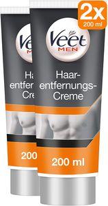 Veet for Men Enthaarungs-Gelcreme | Effektive Haarentfernung für Männer 2x 200ml