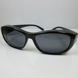 REVEX polarisierte Überbrille Sonnenbrille für Brillenträger schwarz CAT3
